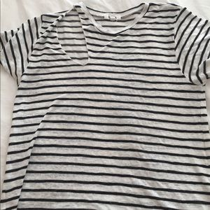 LNA stripe T-shirt with cut out